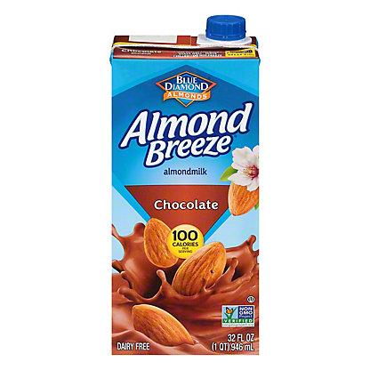 Blue Diamond Almond Breeze Chocolate Non-Dairy Beverage,32 OZ