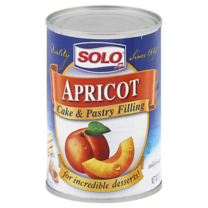 Solo Apricot Cake and Pastry Filling,12 OZ