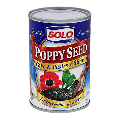 Solo Poppy Seed Cake and Pastry Filling,12.5 OZ