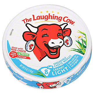 The Laughing Cow Light Creamy Swiss Wedges,6 OZ