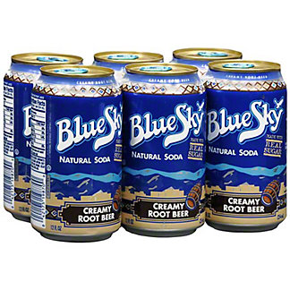 Blue Sky Natural Creamy Root Beer Soda,6 pack - 12OZ