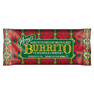 Amy's Cheddar Cheese Burrito,6 oz