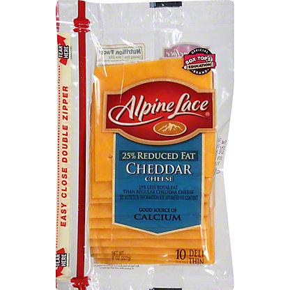 Alpine Lace 25% Reduced Fat Cheddar,8 OZ