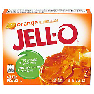 Jell-O Orange Gelatin,3 oz