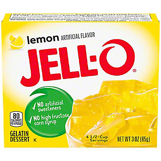 Jell-O Lemon Gelatin,3 oz