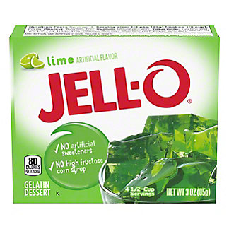 Jell-O Lime Gelatin,3 OZ