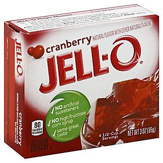 Jell-O Cranberry Gelatin,3 OZ