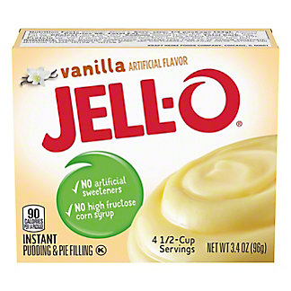 Jell-O Instant Vanilla Pudding,3.4 OZ