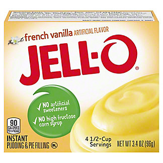 Jell-O Instant French Vanilla Pudding,3.4 OZ