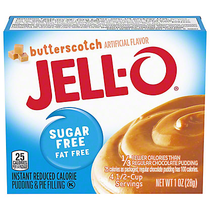 Jell-O Instant Sugar Free Butterscotch Pudding,1 OZ
