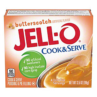 Jell-O Cook & Serve Butterscotch Pudding,3.5 OZ