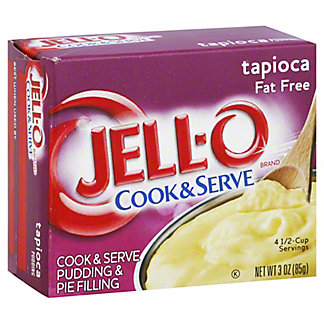 Jell-O Cook & Serve Fat Free Tapioca Pudding, 3 oz