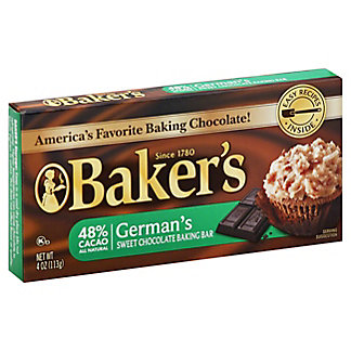 Baker's German 48% Cacao Sweet Chocolate Baking Bar, 4 oz