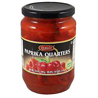 Zergut Paprika Quarters, 24 OZ