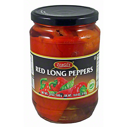 ZERGUT Zergut Red Long Peppers, 24 OZ