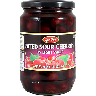 Zergut Pitted Sour Cherries in Light Syrup, 24 OZ