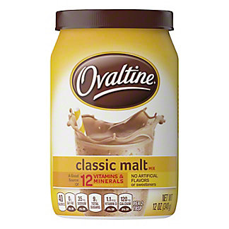 Ovaltine Classic Malt Drink Mix, 12 oz