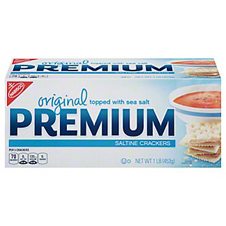 Nabisco Premium Original Topped with Sea Salt Saltine Crackers,16 OZ