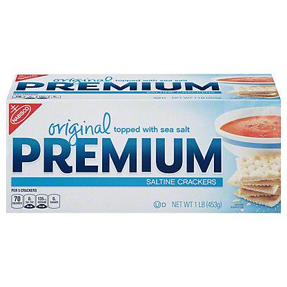 Nabisco Premium Original Topped with Sea Salt Saltine Crackers,16 OZ