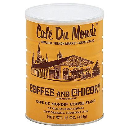 Cafe Du Monde Coffee and Chicory Dark Roast Ground Coffee, 15 oz