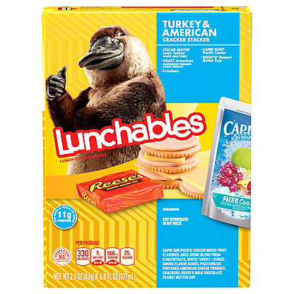 Oscar Mayer Lunchables Turkey & American Cracker Stackers Lunch Combinations,8.9 OZ