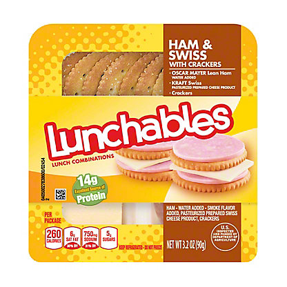 Oscar Mayer Lunchables Ham & Swiss with Crackers Lunch Combinations,3.2 OZ