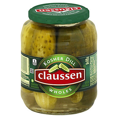 Claussen Whole Kosher Dill Pickles,32 OZ
