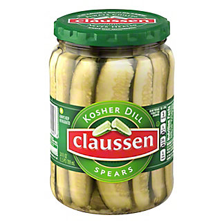 Claussen Kosher Dill Pickles Spears,24 OZ