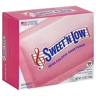 Sweet 'N Low Zero Calorie Sweetener Packets, 100 ea