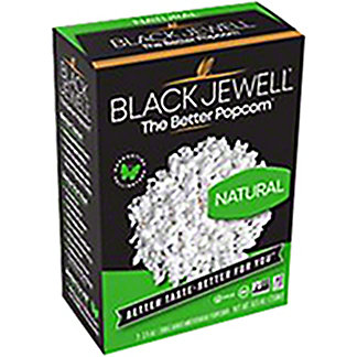 Black Jewell Natural Microwave Popcorn, 3 ct