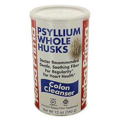 Yerba Prima Psyllium Whole Husks Colon Cleanser,12 OZ