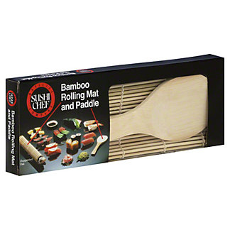 Sushi Chef Bamboo Rolling Mat and Paddle,EACH