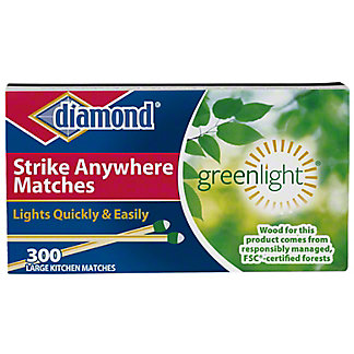 Diamond Strike Anywhere Large Kitchen Matches,300 CT - 3 PK