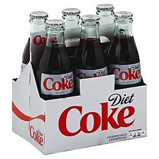 Coca-Cola Diet Coke Glass 8 oz Bottles,6 pk