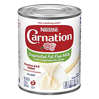 Nestle Carnation Fat Free Evaporated Milk,12 OZ