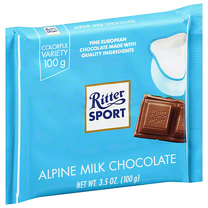 Ritter Sport Alpine Milk Chocolate 30% Cocoa, 3.5 oz