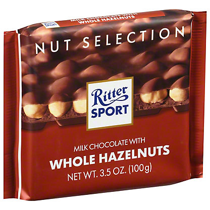 Ritter Sport Milk With Whole Hazelnuts Chocolate, 3.5 oz