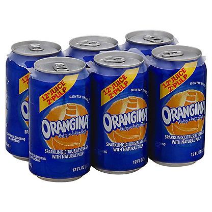 Orangina Orangina Sparkling Citrus Beverage With Natural Pulp,6- 12oz Cans