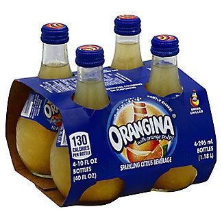 Orangina Sparkling Citrus Beverage,4 PK - 10oz Bottles