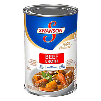 Swanson 100% Natural Beef Broth, 14  oz