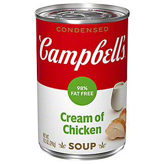 Campbell's 98% Fat Free Condensed Cream of Chicken Soup, 10.75 oz