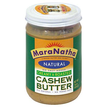 MaraNatha Natural Creamy & Roasted Cashew Butter,16 OZ