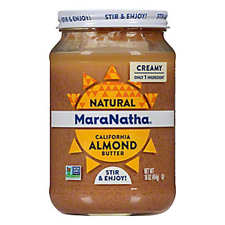 MaraNatha Marantha Salt Free Roasted Almond Butter, 16 oz