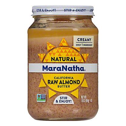 MaraNatha Natural Creamy & Raw Almond Butter,16.00 oz