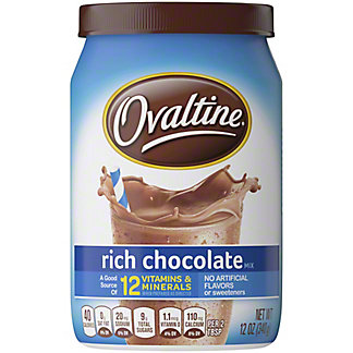 Ovaltine Rich Chocolate Drink Mix, 12 oz