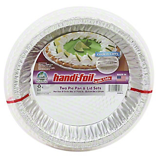 Handi-Foil Cook-n-Carry Pie Pans & Lids,2 CT