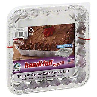 Handi-Foil Ultimates Cook-n-Carry Square Cake Pans & Lids,EACH