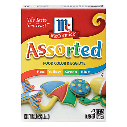 McCormick Assorted Food Color and Egg Dye, 4 ct