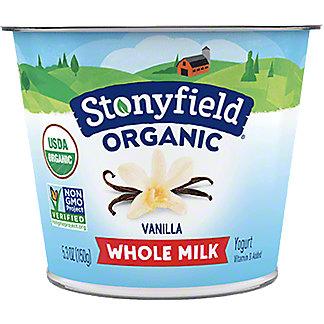 Stonyfield Farm Organic Nonfat French Vanilla Yogurt, 6 OZ