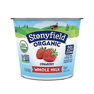 Stonyfield Organic Whole Milk Strawberry Yogurt, 5.3 oz